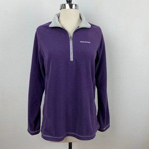 Craghoppers Purple Fleece Sweatshirt 1/4 Zip M/8